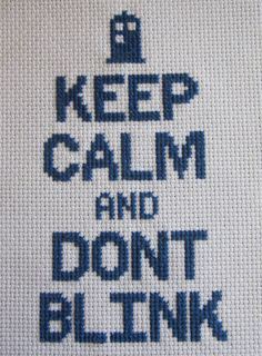 Keep Calm and Dont Blink /// cross stitch pattern by oregonstream, $4.00