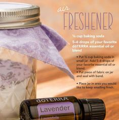 Air Freshener that will last up to two weeks and has two completely natural ingredients!
