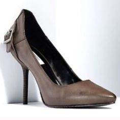 90198b0a1d2d Nwt Brown Leather Vera Wang Pumps Simply Vera