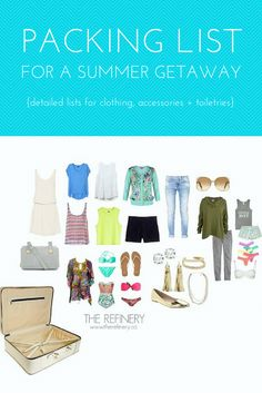 Use this summer weekend packing list to pack your bags in ten minutes or less. *bonus travel case idea included to help save even more time.