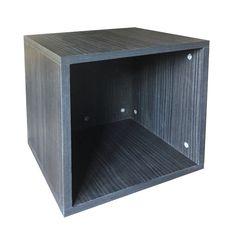 Black mellamine faced MDF vinyl LP storage box