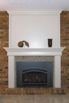 Custom Made Wood Surround Alpine Cabinets In Ohio That Matches The Finish And Paint On Walls A Heat N Glow Fireplace Insert