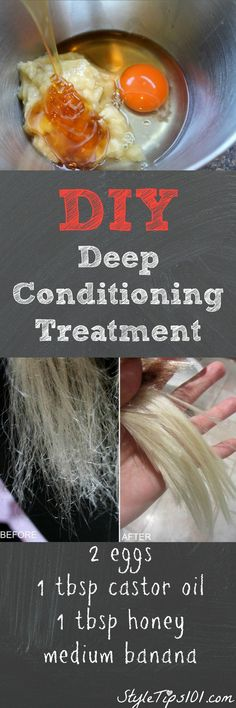 This DIY deep conditioning treatment works way better than store bough deep conditioners, and it's super cheap to make! We love this DIY deep conditioning treatment because it leaves your hair extremely soft, manageable, and will also protect colored hair