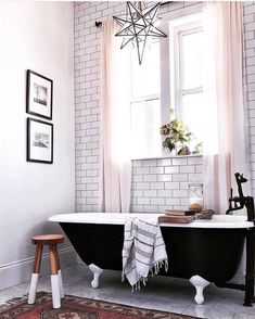 Farmhouse Bathroom #morningrituals #bathroomdreams #whiteloom #whiteinteriors