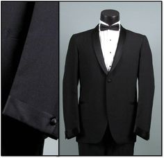 Vintage Mens Tuxedo Dinner Jacket 1960s TRAD by jauntyrooster, $75.00