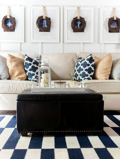 Fall decor in navy & white. Neutral fall decor with white pumpkins. White pumpkin decorating ideas for fall. Board and batten living room navy, white, fall. Modern Office Design, Office Interior Design, Fall Home Decor, Autumn Home, Savvy Southern Style, Pumpkin Decorating, Decorating Ideas, Fall Table, White Pumpkins