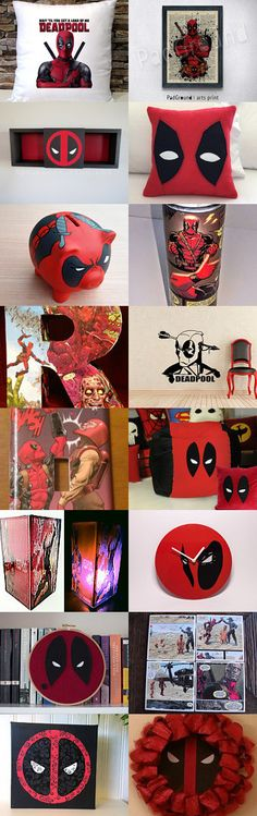 {HEART} Deadpool Home Decor by Nicole Fischer on Etsy--Pinned with TreasuryPin.com
