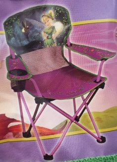 Disney Tinkerbell Toddler Camping Chair with Cup Holder and Arm Rest Exxel Outdoors http://www.amazon.ca/dp/B00H15KJOE/ref=cm_sw_r_pi_dp_TavBub0G0TVCK