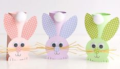 How to Make Paper Roll Bunnies Bunny Easter Craft for Kids Easter Bunny Crafts for Kids DIY Cute Easter Pom Pom Party Bunnies Easy Easter Crafts, Spring Crafts For Kids, Bunny Crafts, Easter Crafts For Kids, Crafts For Teens, Crafts To Make, Toilet Paper Roll Crafts, How To Make Paper, Creative Kids