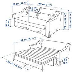 FÄRLÖV Sleeper sofa, Flodafors white - IKEA Futon Mattress, Mattress Covers, Foam Mattress, Sofa Covers, Mousse Polyuréthane, Ikea Family, Bed Slats