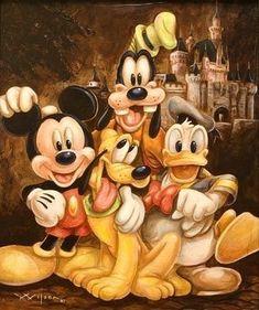 Walt Disney Mickey Mouse & the gang Disney Mickey Mouse, Mickey Mouse E Amigos, Mickey Mouse And Friends, Pluto Disney, Goofy Disney, Disney Parks, Walt Disney, Disney Pixar, Disney Fan Art