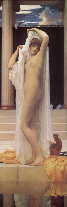 Lord Frederick Leighton, The Bath of Psyche.  Art Experience NYC  www.artexperiencenyc.com/social_login/?utm_source=pinterest_medium=pins_content=pinterest_pins_campaign=pinterest_initial