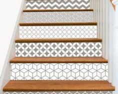 Escalier contremarche vinyle lanières amovibles par SnazzyDecal