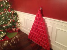 Elf on the Shelf Red Solo Cup Tree