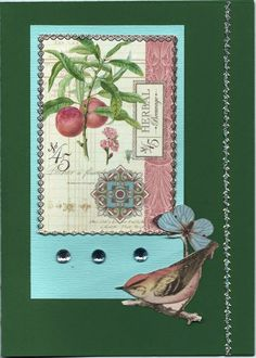 Elements from Graphic 45 Botanical Tea papers. These papers are lovely and a great inspiration