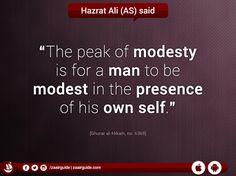 #HazratAli #Modest #Man #Own #ImamAli #Quote #Saying