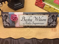 Unique Wooden Office Desk Name Plate / Plaque / Block Handmade Personalized on Etsy, $18.00