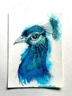 Proud Peacock. $70.00, via Etsy.