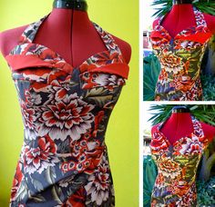 Tracy's version of Gertie's Bombshell Dress is by far the coolest I've seen so far! She modified it to feature a petal bust (the petals flip up or down). #retro #vintage #sewing | Tracy Griffin