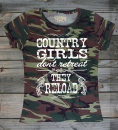 Women's Country Girl's ™™ Reload Pink Camo T-shirt  #CountryGirl #CountryBoy #CountryMusic