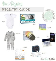 "The ""No-registery"" Registry Guide (The Wise Baby) Baby Presents, Third Baby, Baby Registry, Pregnancy, Ideas, Baby Freebies, Third Child, Baby Giveaways, Pregnancy Planning Resources"