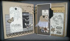 Use this idea for layered card Album Photo Scrapbooking, Mini Albums Scrapbook, Scrapbooking Layouts, Scrapbook Pages, Mini Album Scrap, Handmade Scrapbook, Memory Album, Mini Photo, Vintage Crafts