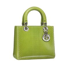 Christian Dior reptile vert lady dior