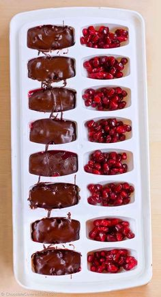 Ice Cube Tray Pomegranate Chocolates