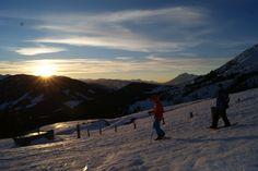 #Sonnenuntergang #Dienten #Hochkönig #Schneeschuhwanderung #Erichhütte #Winterwanderung #sundowner am hochkönig Winter, Mountains, Nature, Travel, Snowshoe, Sunset, Winter Time, Naturaleza, Viajes