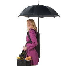 Go Go Gadget Umbrella! When you need both hands while out and about in the rain or sun, just deploy this unique canopy!