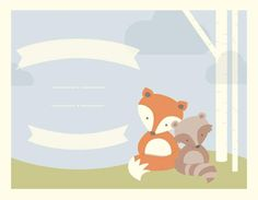 I love the woodland creatures. Create an Invitation - Enter your Text