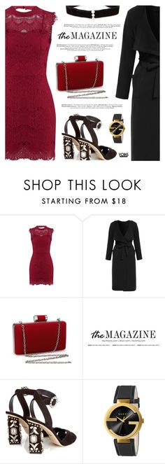 """""""Hot Date Night Style"""" by defivirda ❤ liked on Polyvore featuring Dolce&Gabbana, Gucci and Anissa Kermiche"""