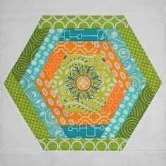 Log Cabin Hexagon Block http://www.favequilts.com/Block-Patterns/Log-Cabin-Hexagon-Block/ml/1/?utm_source=ppl-newsletter&utm_medium=email&utm_campaign=favequilts20141025