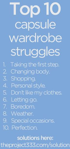Top Ten Capsule Wardrobe Struggles (and solutions)