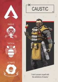 Apex Legends Caustic Character Poster Poster by Gemini Phoenix.Featuring Art from the popular Battle Royale video game.In sizes M-L-XL. Video Game Posters, Video Games, Game Wallpaper Iphone, Legend Games, Sports Graphic Design, Battle Royale Game, Gamer Gifts, Print Artist, Game Character