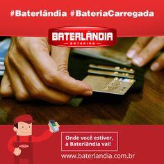 Atenção! A Baterlândia divide nos cartões de crédito em até 3X, sem cobrar mais por isso! Então aproveite e venha trocar sua bateria! Não fique na mão! #Baterlândia #BateriaCarregada