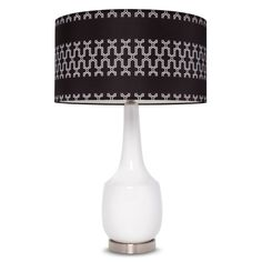 Gray Link Shade Ceramic Lamp (Includes CFL Bulb)