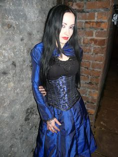 Handmade taffeta bolero and bustle skirt- I try to wear as much of my handmade clothing as I can.  https://www.facebook.com/Superstitchious.Clothing?pnref=lhcblue