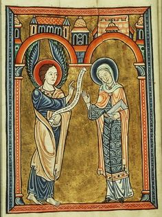 Ad Imaginem Dei: The First Joyful Mystery – The Annunciation, Part I, Simplicity Hans Fecamp psalter 1180