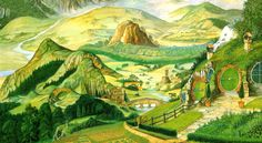 The Shire Theme song known in the Lord of The rings Movies from Tolkien. Hobbit Bilbo, Hobbit Art, Hobbit Hole, Legolas, Gandalf, Aragorn Lotr, Bilbo Baggins, Fellowship Of The Ring, Lord Of The Rings