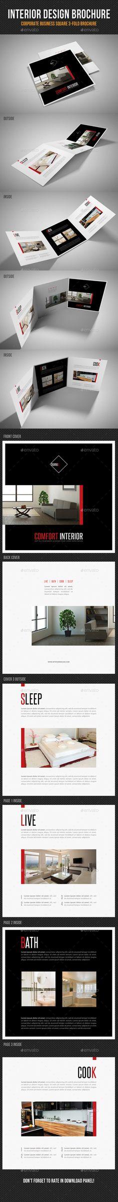 Interior Design Square 3-Fold Brochure. Download: http://graphicriver.net/item/interior-design-square-3fold-brochure-v04/11264969?ref=ksioks