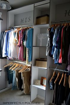 Closet organization DIY closet renovation Selecting The Right Drapes For Your Home Article Body: Pra Wardrobe Closet, Closet Space, Closet Redo, Diy Storage, Closet Organization, Organization Ideas, Closet Renovation, Master Bedroom Closet, Master Bedrooms