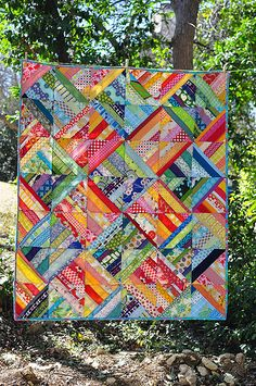 Colourful scrap quilt- Other great quilts at this site
