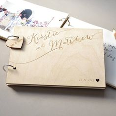 Personalised Calligraphy Guest Book