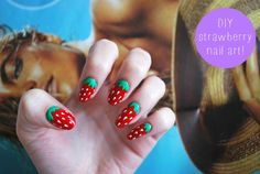 DIY strawberry nail art DIY Nails Art