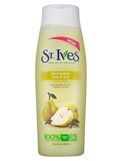 D A Green St Ives St. Ives Revitalizing Pear & Soy Body Wash - It's sudsy and refreshin...