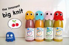 Free pattern: the innocent big knit Pacman ghost hats | Nanaliciouz