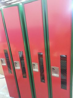 Morgan Park High School - Fire Extinguisher Lockers. Safety first!