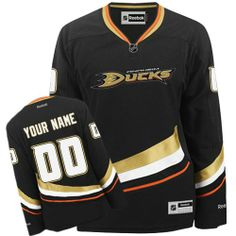 7933a4440 -Buy 100% official Reebok Women s Premier Black Jersey Customized NHL  Anaheim Ducks Home Free Shipping.