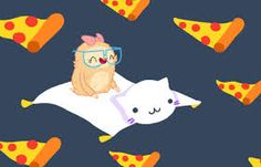 Resultado de imagen para dona y pizza animadas